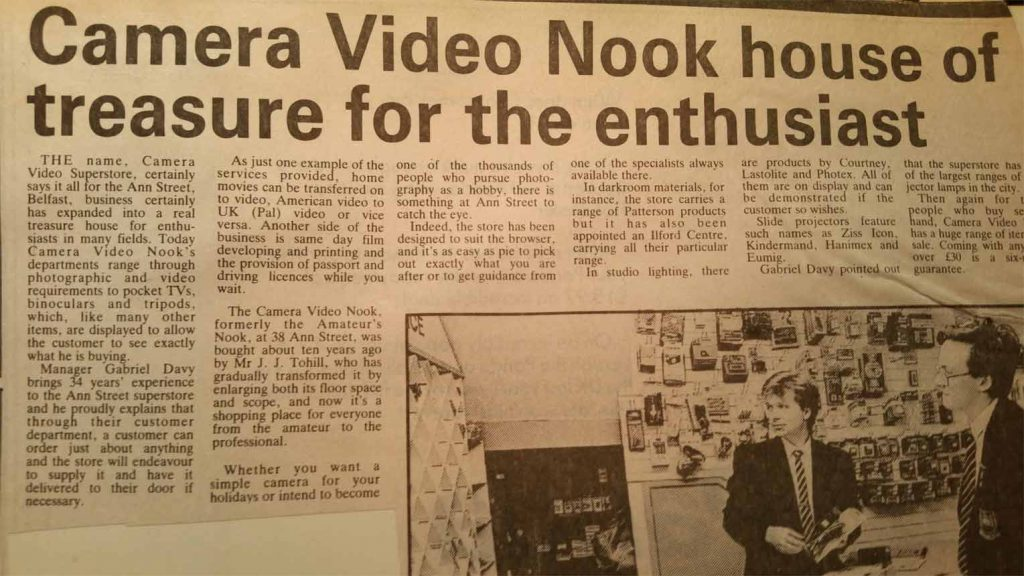 Happy Ireland Productions Camera Video Nook history of H.I.P